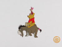 """Walt Disney's LE """"Winnie the Pooh and the Blustery Day"""" 11x14 Animation Serigraph Cel"""