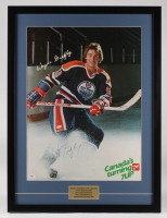 Wayne Gretzky Signed Edmonton Oilers 24x32 Custom FramedVintage 7UP Ad Display (PSA LOA) at PristineAuction.com
