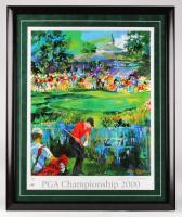 "LeRoy Neiman Signed ""2000 PGA Championship"" 27x33 Custom Framed Print Display (PSA COA)"