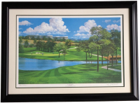 "Byron Nelson Signed LE ""TPC Las Colinas"" 25x35 Custom Framed Lithograph Display (SI COA)"