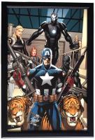 "Stan Lee Signed LE ""Marvel"" 17x27 Custom Framed Canvas Display (Beckett COA)"