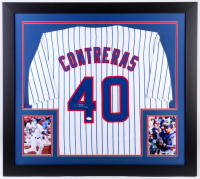 Willson Contreras Signed Chicago Cubs 31x35 Custom Framed Jersey (JSA COA)