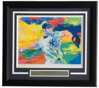 "Leroy Neiman ""Roger Clemens: The Rocket"" 18x20 Custom Framed Print Display"