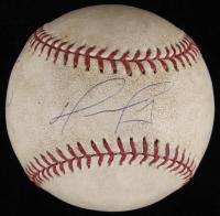 """David Ortiz Signed Game-Used OML Baseball Inscribed """"3 Hit 1 Run"""" (Steiner LOA & MLB Hologram)"""