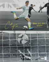 """Carli Lloyd Signed Team USA 16x20 Photo Inscribed """"Best WC Goal"""" & """"7/5/15"""" (TriStar & Lloyd Hologram)"""