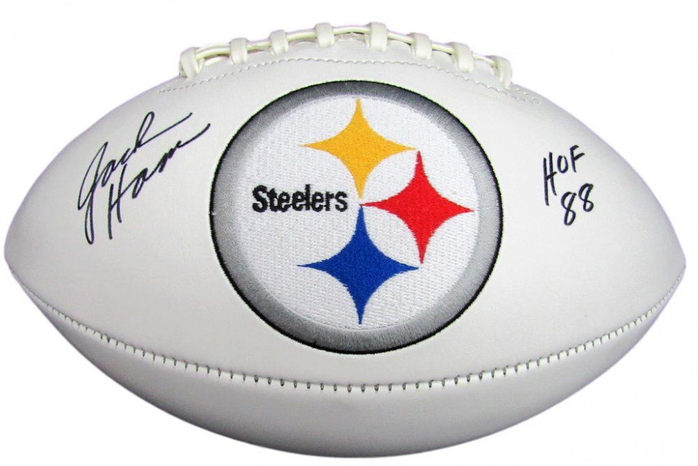 ea3a1a283 Jack Ham Signed Pittsburgh Steelers Logo Football Inscribed