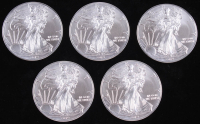 Lot of (5) 2019 Silver Eagle $1 Dollar Coins