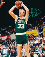Larry Bird Signed Boston Celtics 8x10 Photo (Bird Hologram)