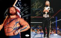 """Lot of (2) Signed WWE 8x10 photos with (1) Ted DiBiase & (1) Jim """"Hacksaw"""" Duggan (JSA COA)"""