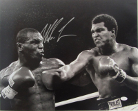 "Mike Tyson Signed ""Fighting Muhammad Ali"" 16x20 Photo (JSA COA)"