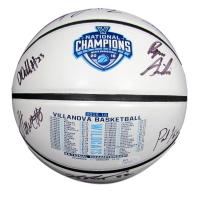 2016 National Champions Villanova Wildcats Logo Basketball Team-Signed by (8) with Kris Jenkins, Ryan Arcidiacono, Josh Hart, Daniel Ochefu (JSA COA)