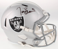Tim Brown Signed Oakland Raiders Full-Size Speed Helmet (Beckett COA)