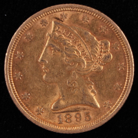1895 $5 Five Dollars Liberty Head Half Eagle Gold Coin