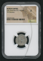 218-222 AD Roman Empire Julia Soaemias, AR (Silver) Denarius (NGC F)