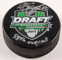"Nikita Kucherov Signed 2011 NHL Draft Logo Hockey Puck Inscribed ""58th Overall"" (Your Sports Memorabilia Store COA)"