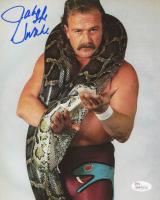 """Jake """"The Snake"""" Roberts Signed WWE 8x10 Photo (JSA COA)"""