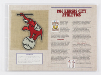 Official Cooperstown Collection 1960 Kansas City Athletics Patch Card with 9x12 Scorecard at PristineAuction.com