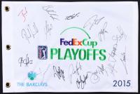 2015 FedEx Cup Playoffs Signed by (18) with Dustin Johnson, Jim Furyk, Jordan Spieth, Justin Rose, Chad Campbell (JSA ALOA)
