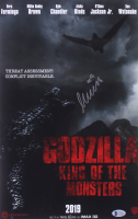 """Millie Bobby Brown Signed """"Godzilla: King of the Monsters"""" 11x17 Movie Poster Print (Beckett COA)"""