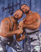 """Luke Williams Signed WWF 8x10 Photo Inscribed """"Bushwhacker"""" (Fiterman Sports Hologram)"""