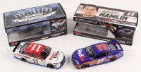 Lot of (2) Denny Hamlin LE 1:24 Scale Die Cast Cars with (1) Signed #11 FedEx Express 2017 Camry & (1) #11 Sports Clips Darlington 2016 Camry (RCCA COA)