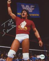 Tito Santana Signed WWF 8x10 Photo (Fiterman Sports Hologram)