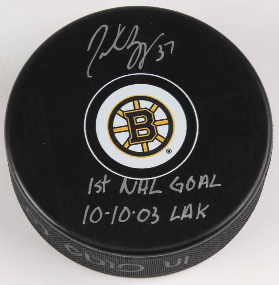 99e360bff04 Patrice bergeron signed boston bruins logo hockey puck inscribed jpg  981x1000 High resolution boston bruins logos