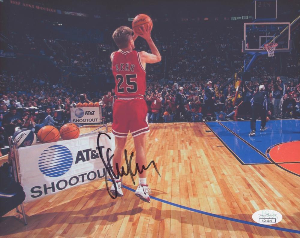 2164d5e58 Steve Kerr Signed Chicago Bulls 8x10 Photo (JSA COA) at PristineAuction.com