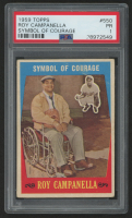1959 Topps #550 Roy Campanella / Symbol of Courage (PSA 1)