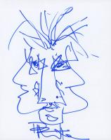 Dave Matthews Signed 8x10 Sketch (JSA ALOA)