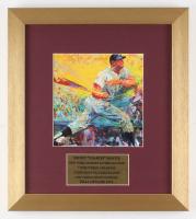 "LeRoy Neiman ""Mickey Mantle"" 12.5x14 Custom Framed Print Display"