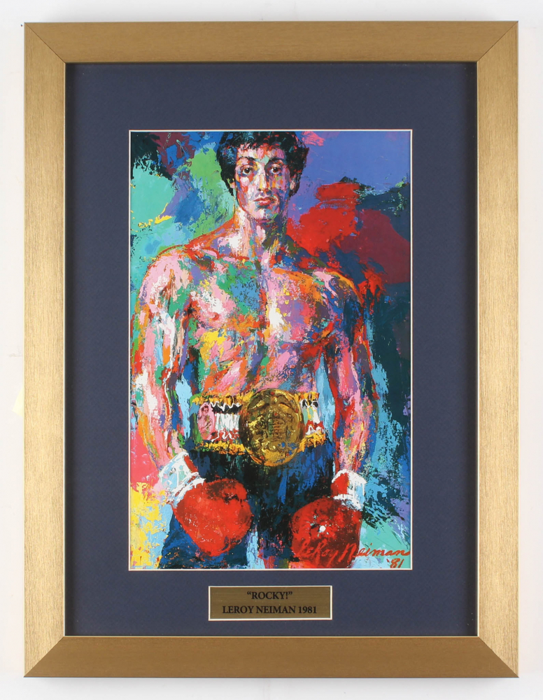 "LeRoy Neiman ""Rocky"" 14x18.5 Custom Framed Print Display at PristineAuction.com"