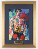 "LeRoy Neiman ""Rocky"" 14x18.5 Custom Framed Print Display"