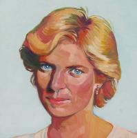 "Brianna Voron ""Princess Diana"" 10x10 2017 Oil Paint on Panel (Voron COA)"