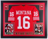 Joe Montana Signed San Francisco 49ers 35x43 Custom Framed Jersey (JSA Hologram) at PristineAuction.com