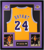 Kobe Bryant Los Angeles Lakers 32x36 Custom Framed Jersey Display with Replica Championship Rings