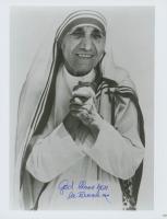 "Mother Teresa Signed 8x10 Photo Inscribed ""God Bless You"" (JSA ALOA) at PristineAuction.com"