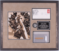 Amelia Earhart Signed 18.25x21.25 Custom Framed Cut Display with Postcard & Coin (Beckett Encapsulated) at PristineAuction.com