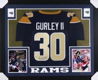 Todd Gurley Signed Los Angeles Rams 35x43 Custom Framed Jersey (PSA Hologram)