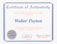 Walter Payton Signed 35x43 Custom Framed Cut Display with Jersey (Payton COA) at PristineAuction.com
