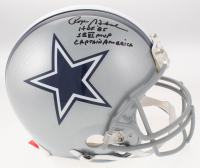 Roger Staubach Signed Dallas Cowboys Full-Size Authentic On-Field Helmet with Multiple Inscriptions (JSA COA)
