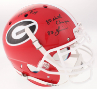 Herschel Walker Signed Georgia Bulldogs Full-Size Authentic On-Field Helmet with Multiple Inscriptions (Beckett COA) at PristineAuction.com