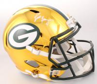 Brett Favre Signed Green Bay Packers Full-Size Chrome Speed Helmet (JSA COA & Favre Hologram) at PristineAuction.com