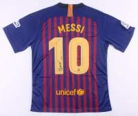 "Lionel Messi Signed FC Barcelona Nike Jersey Inscribed ""Leo"" (Beckett COA)"
