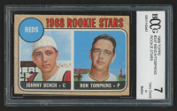 1968 Topps #247 Rookie Stars / Johnny Bench RC / Ron Tompkins (BCCG 7)