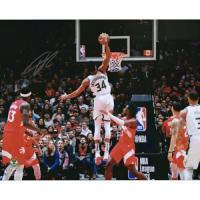 "Giannis Antetokounmpo Signed Milwaukee Bucks ""Vs. Raptors"" 16x20 Photo (Fanatics Hologram) at PristineAuction.com"