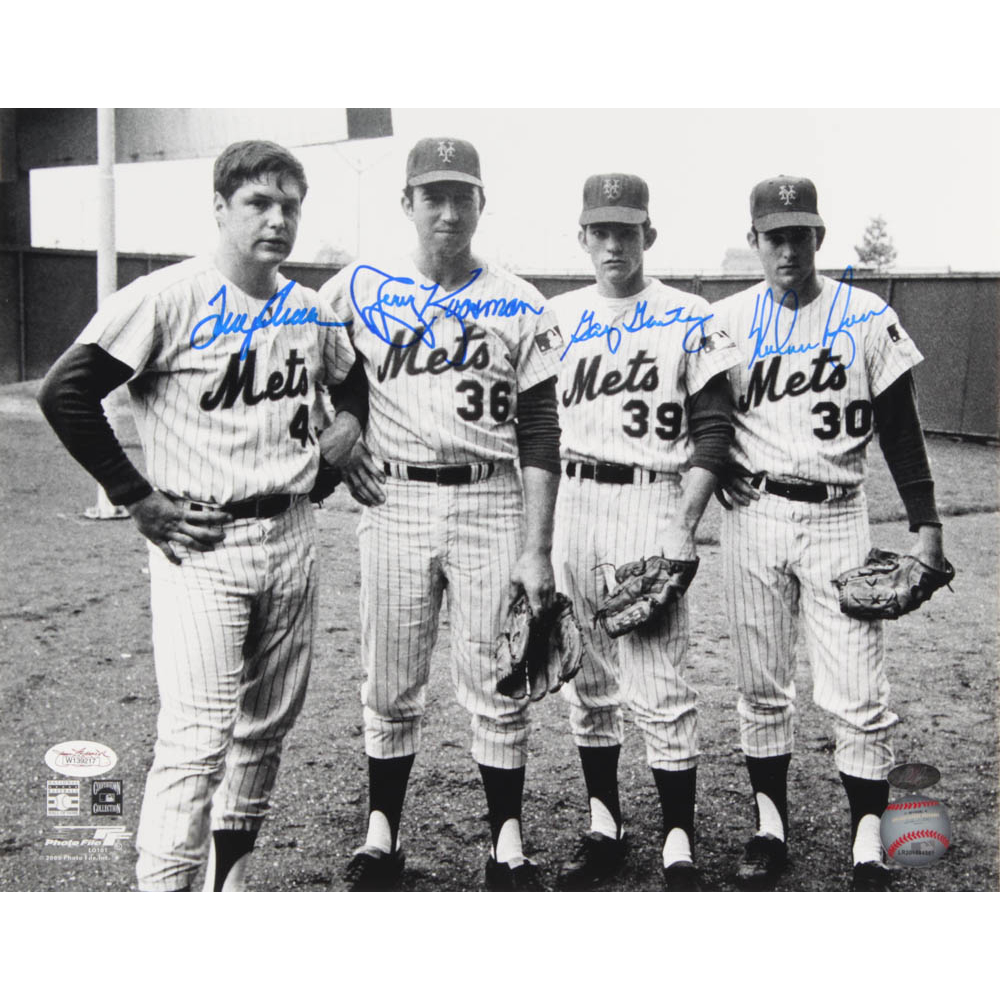 1969 NY Mets He Was a Rookie Who Won 13 Games with the Mets in 1969 Gary Gentry Autographed //Original Signed 8x10 Color Photo