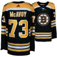 "Charlie McAvoy Signed LE Boston Bruins Adidas Authentic Jersey Inscribed ""14th Pick"" & ""NHL Debut 4-12-17"" (Fanatics Hologram) at PristineAuction.com"
