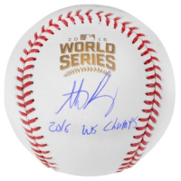 "Anthony Rizzo Signed 2016 World Series Baseball Inscribed ""2016 WS Champs"" (Fanatics Hologram & MLB Hologram) at PristineAuction.com"