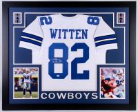 Jason Witten Signed Dallas Cowboys 35x43 Custom Framed Jersey (JSA COA)
